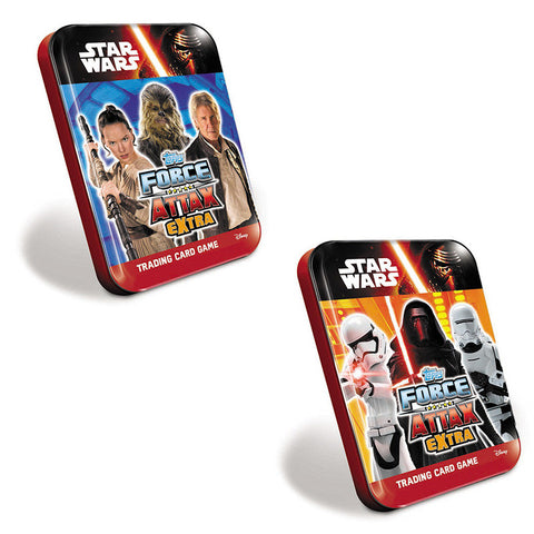 Star Wars Topps The Force Awakens Force Attax Extra Collector Cards Mini Tins Assorted