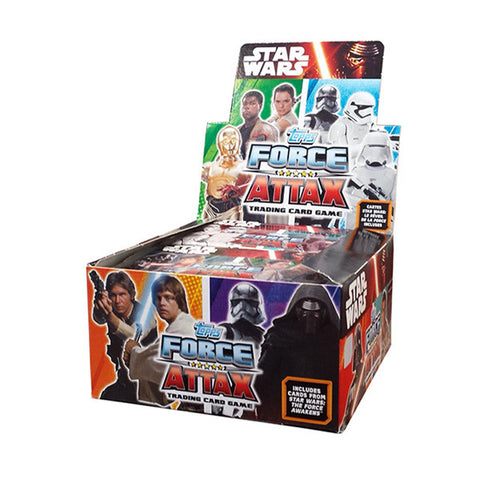 Star Wars Topps The Force Awakens - Force Attax Trading Card Game Booster (50 Packs)