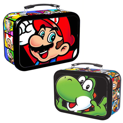 Super Mario Bros 3D Mario & Yoshi Tin with Handle