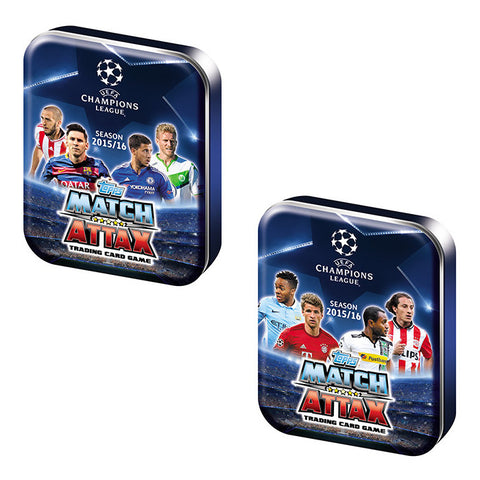 Topps UEFA Champions League 2016/2017 Edition Soccer Trading Card Mini Tin Assorted