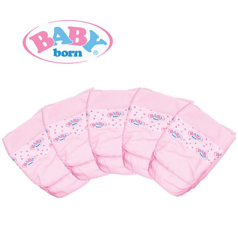 Baby Born Nappies Set of 5 Pack