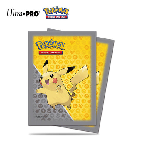 Ultra PRO Pokemon - Pikachu Grey Deck Protector Trading Card Sleeves