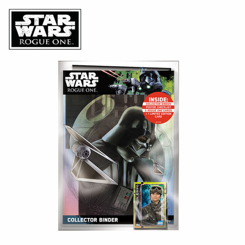 Star Wars Rogue One Topps Trading Card Starter Pack with Collector Binder