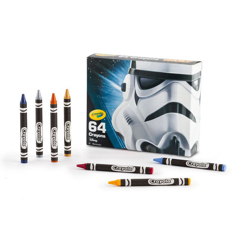 Crayola Star Wars 64 Piece Crayons Box Limited Edition Storm Trooper Pack