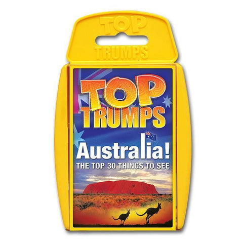 Top Trumps Australia Top 30 Things To See Card Game