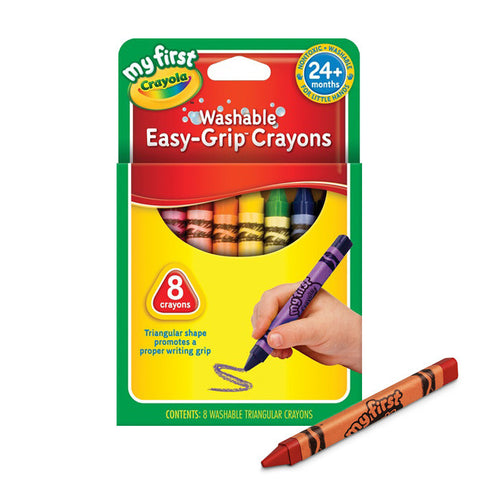 Crayola My First Washable Triangular Crayons - Easy Grip 8 Pack