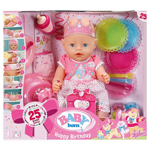 Baby Born Interactive Happy Birthday Doll
