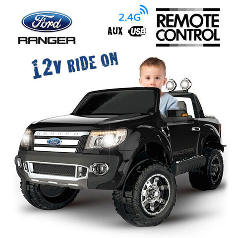Action Ford Ranger Truck 4x4 Ute 12v Kids Ride On Car Remote Control Black