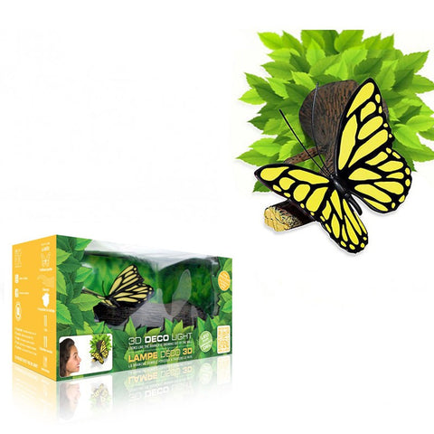 Nature Pretty Yellow Butterfly on Branch 3D FX Night Light