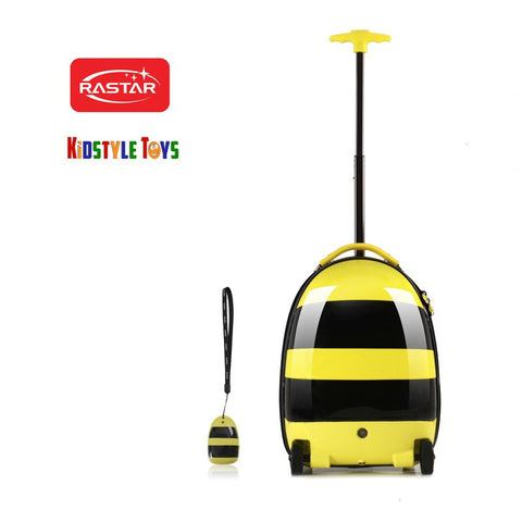 Remote Control Kids Electric Travel Suitcase Bag (Bee)