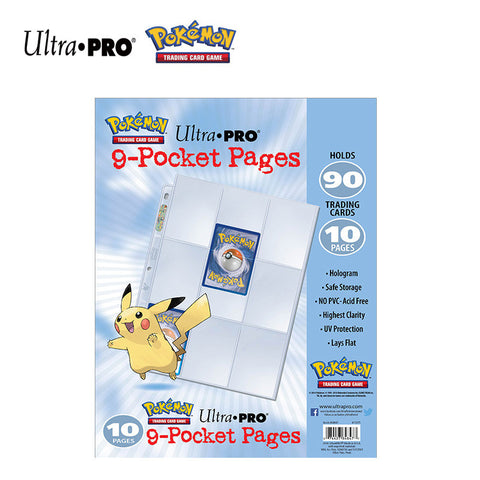 Ultra PRO Pokemon 9 Pocket Trading Card Page 10 Pages Pack