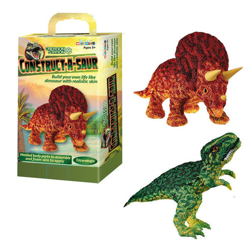 Construct-A-Saurs Tyrannosaurus Rex or Triceratops Craft Kit Assorted