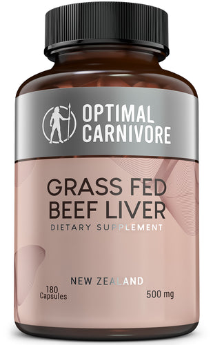 Grass Fed Beef Liver Capsules, Desiccated Beef Liver Supplement, Ancestral Superfood from New Zealand (180 Pills) by Optimal Carnivore