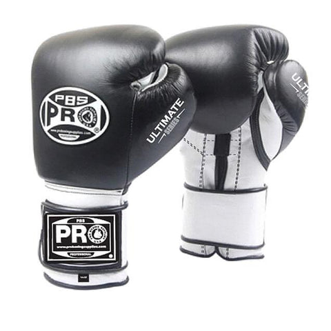 "Pro Boxing® Ultimate Velcro Boxing Gloves ""¢ Black"