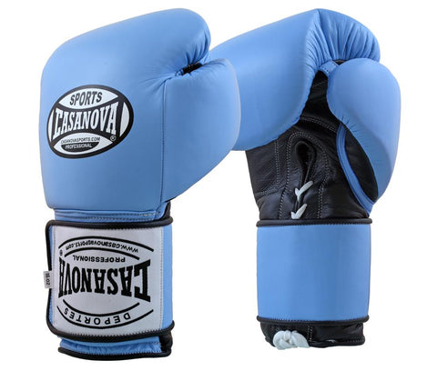 Casanova Boxing® Hybrid Boxing Gloves w/ Hook & Loop - Blue