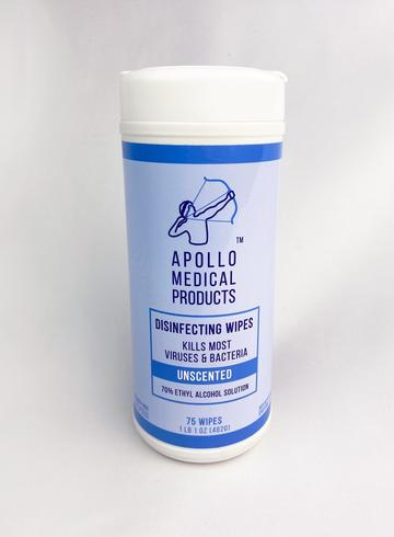 Apollo Medical Products Sanitizing Wipes
