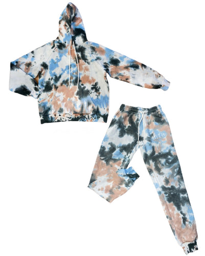 NITA COTTON CANDY Tye Dye Sweatsuit