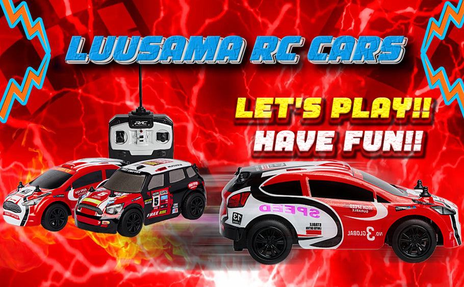 Fun & Beautiful Luusama Remote Control Car Model Electric Vehicle RC Racing Toy Hobby Cars For Boy Gift For Kids (Scale 1:28/AA Battery) RC101/RC102/RC103