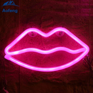 "Red Lip  Home Decoration Beer Bar Neon Light Sign 16"" x 12"" x 3"" (100-240v) Free Shipping Worldwide"