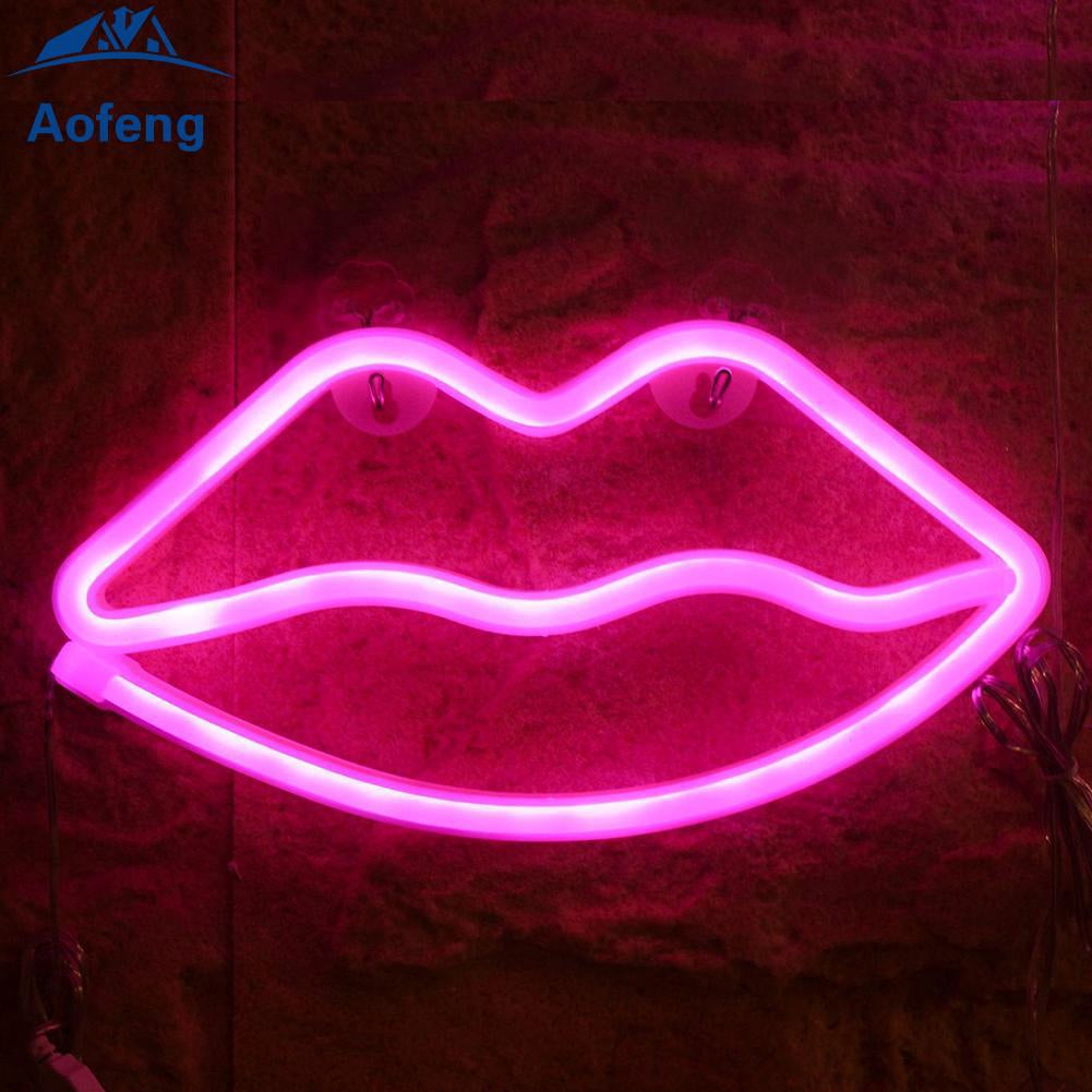 Red Lip  Home Decoration Beer Bar Neon Light Sign 16
