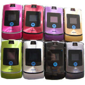 100% Brand New Motorola RAZR V3 Unlocked Classic Cellular Mobile Cell Flip Phone
