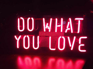 "DO WHAT YOU LOVE Home Decoration Beer Bar Neon Light Sign 12"" x 8"" x 3"" (100-240v) Free Shipping Worldwide"