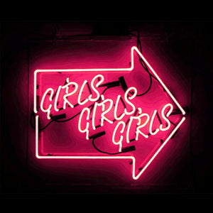 "GIRLS GIRLS GIRLS Home Decoration Beer Bar Neon Light Sign 13"" x 10"" x 3"" (100-240v) Free Shipping Worldwide"