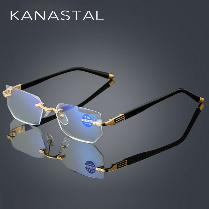 💎 Rimless Anti Blue Ray Reading Glasses - Women & Men Collect - Luminousedgestore