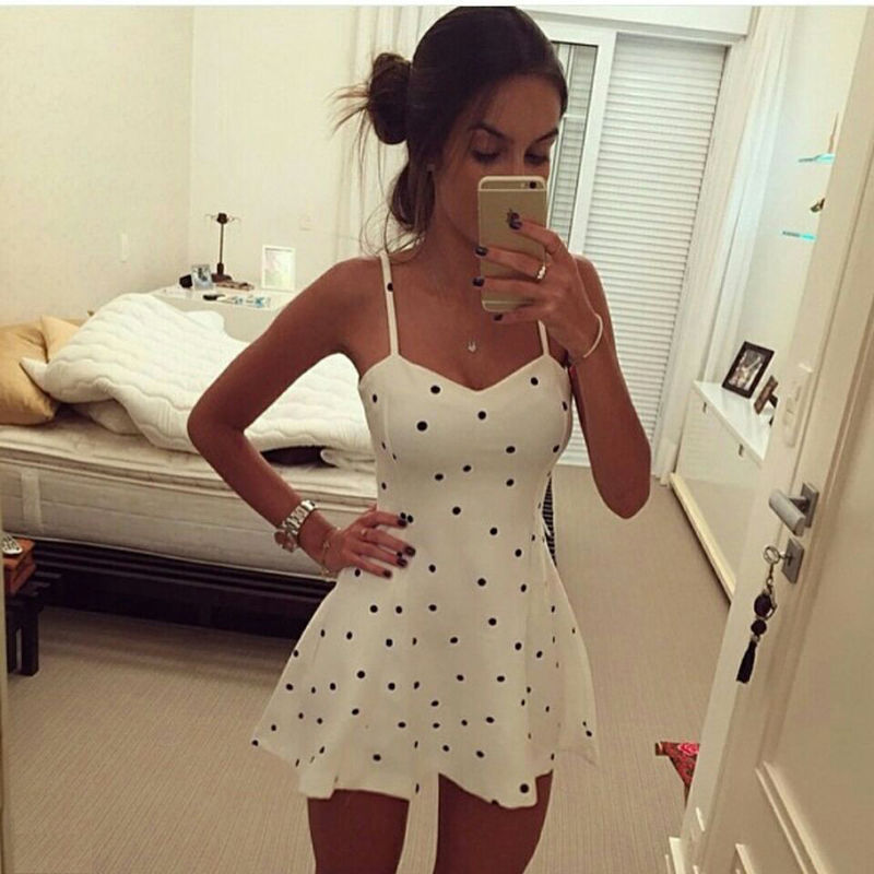 Polka Dot Vestido Sleeveless - Luminousedgestore