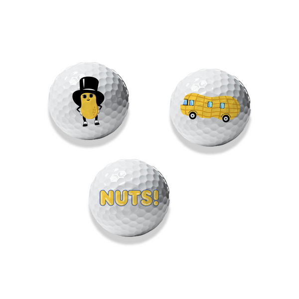 Official Planters 3 of a Kind Baby Nut™ Golf Ball Set