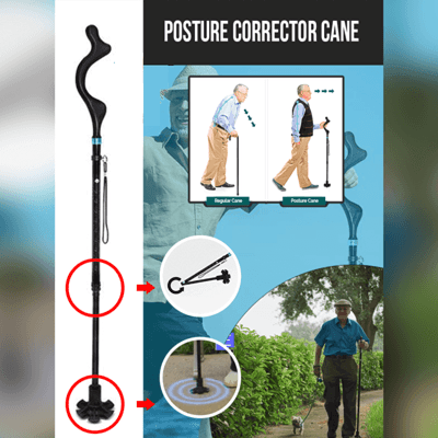 【50% OFF Today!!】Posture Corrector Cane - A Super Life
