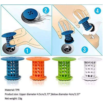 TubShroom Revolutionary Hair Catcher Drain Protector for Tub Drains (No More Hair) - A Super Life