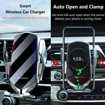 Wireless Automatic Sensor Car Phone Holder and Charger-Buy 2 Free Shipping - A Super Life