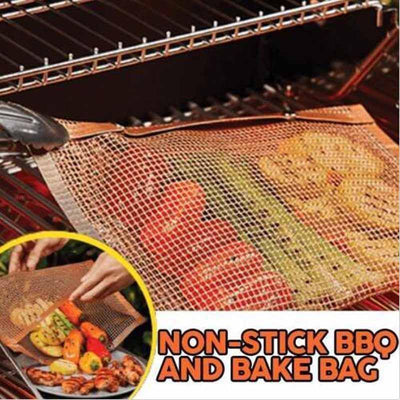 【LAST DAY 50% OFF + BUY 2 GET EXTRA 10%OFF】Non-Stick Mesh Grilling Bag - A Super Life