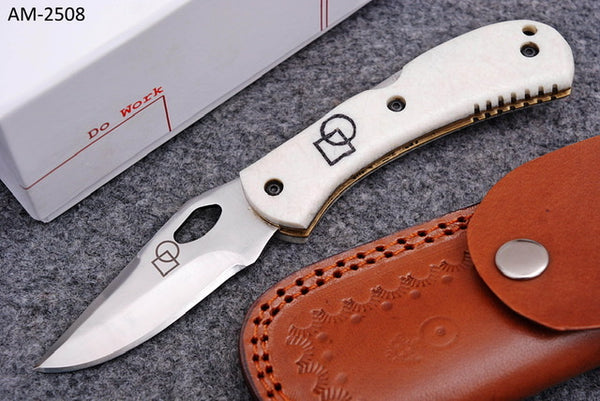 White Stainless Folding Knife