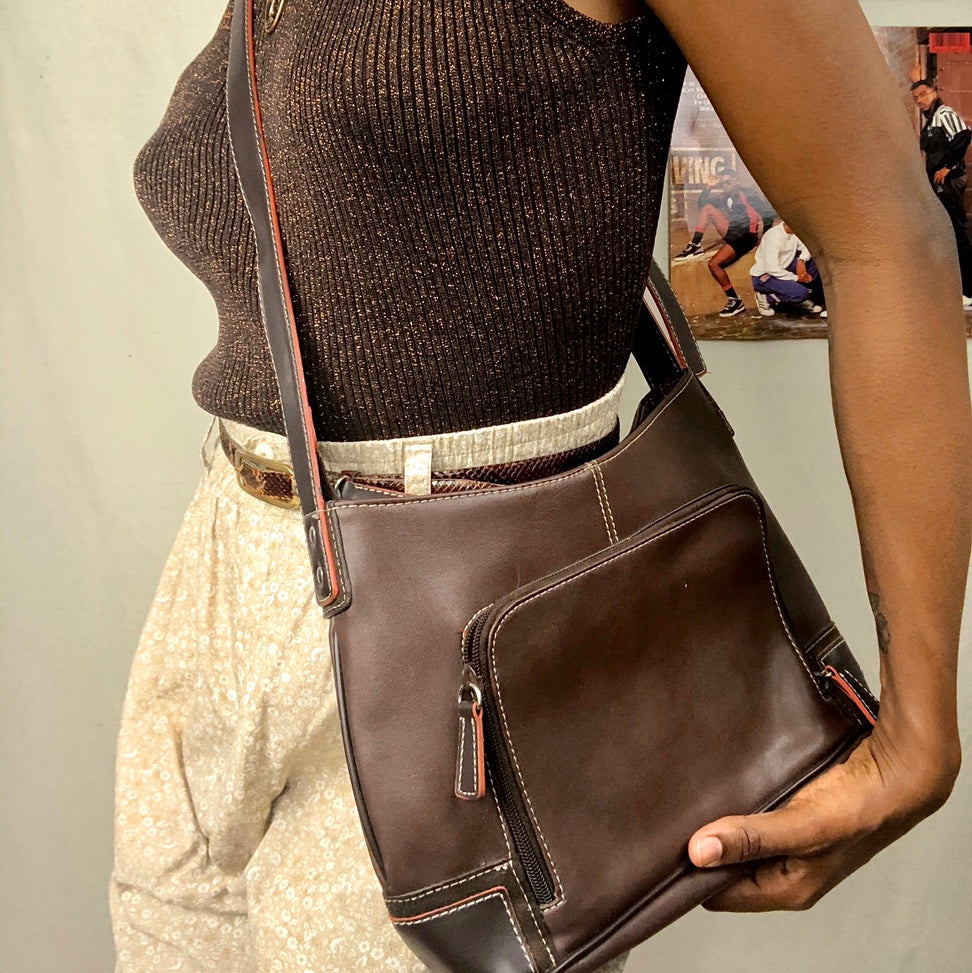 Brown Leather Crossbody Bag/Purse