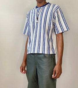 Cool Toned Striped Polo Shirt