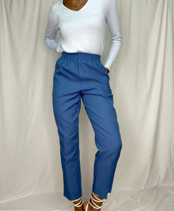 Cool Blue Elastic Waist Trousers