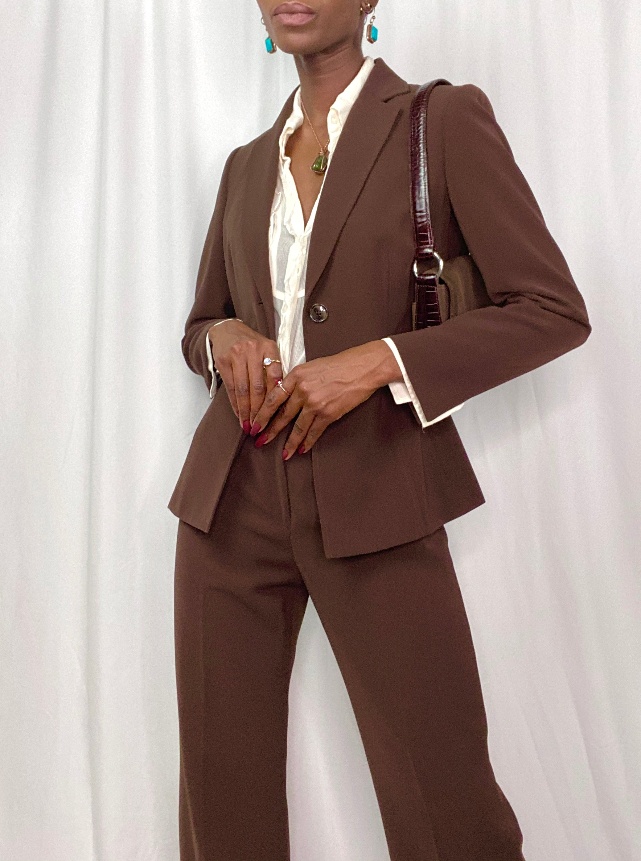 Chocolate Brown Suit Set