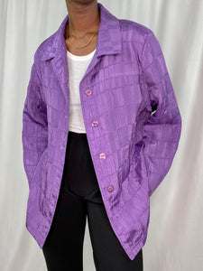 Amethyst Grid Patterned Jacket