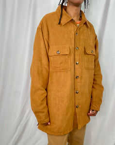 Caramel Suede-Like Light Coat