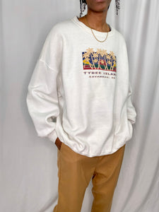 Lee Authentic Apparel White Crewneck Sweater
