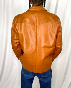 Caramel Leather Jacket