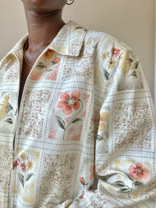 Floral Bomber Light Jacket