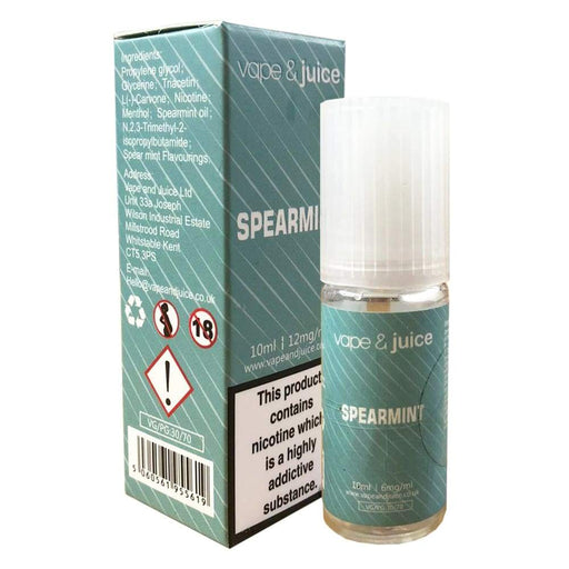 Spearmint Flavoured E-Juice - Juice