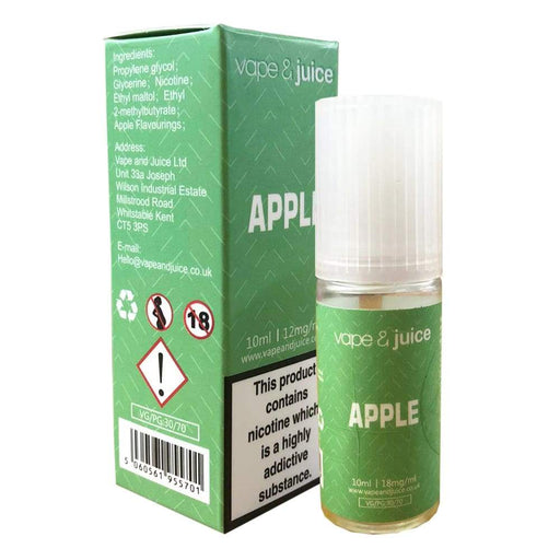 Vape and Juice - Apple Flavoured E-Juice - Juice