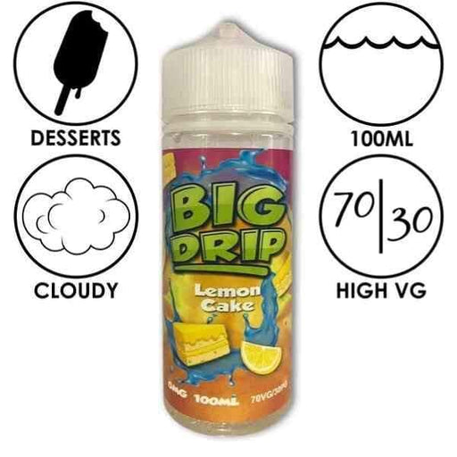 Big Drip E-Liquid Lemon Cake - Juice