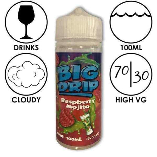 Big Drip E-Liquid Raspberry Mojito - Juice