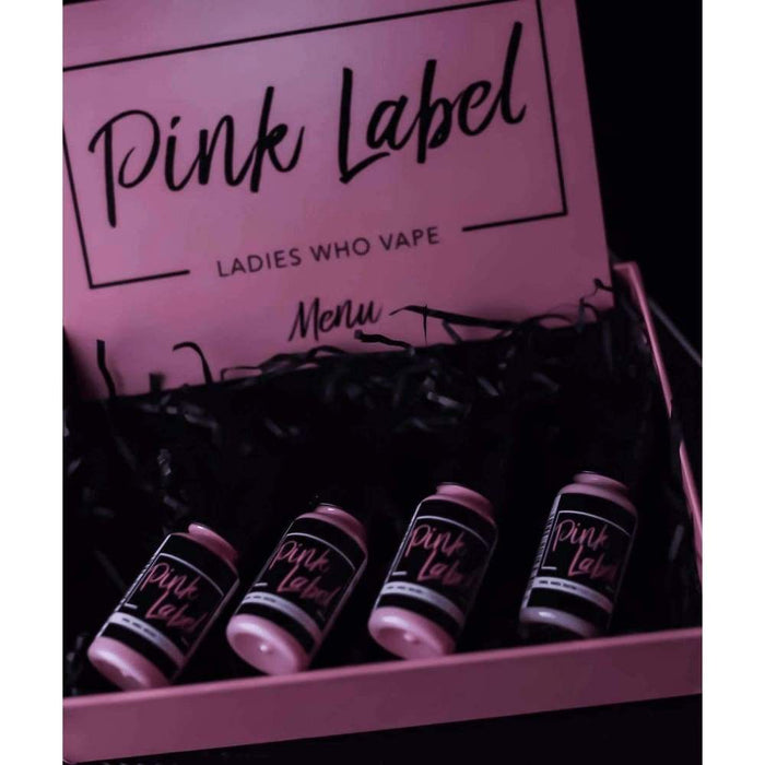 Pink Label Gift Box of 4 flavours - 40ml 50/50 ejuice