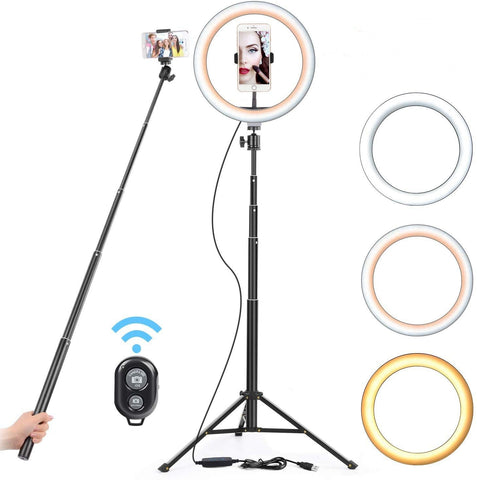 16 26cm USB LED Light Ring Photography Flash Lamp With 130cm Tripod Stand For Makeup Youtube VK Tik Tok Video Dimmable Lighting